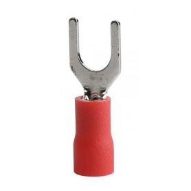 سرسیم دوشاخ روکش دار قرمز مدل SV1.25-6 بسته100تایی
