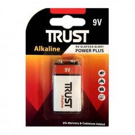 باتری کتابی 9 ولت آلکالاین مارک Trust
