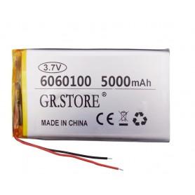 باتری لیتیوم پلیمر 3.7v ظرفیت 5000mAh مارک GR.STORE کد 6060100