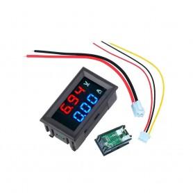 آمپرمتر ولتمتر DC روپنلی 50 آمپر 0v-100v شنت خور