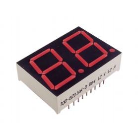 سون سگمنت 2 دیجیت  0.8 اینچ قرمز کاتد مشترک کد TOD-8201AK