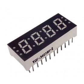 سون سگمنت 4 دیجیت ساعتی 0.3 اینچ قرمز کاتد مشترک کد TOF-3407