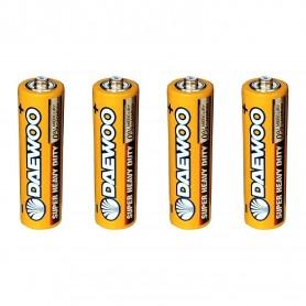 باتری نیم قلمی آلکالاین Super چهارتایی مارک DAEWOO