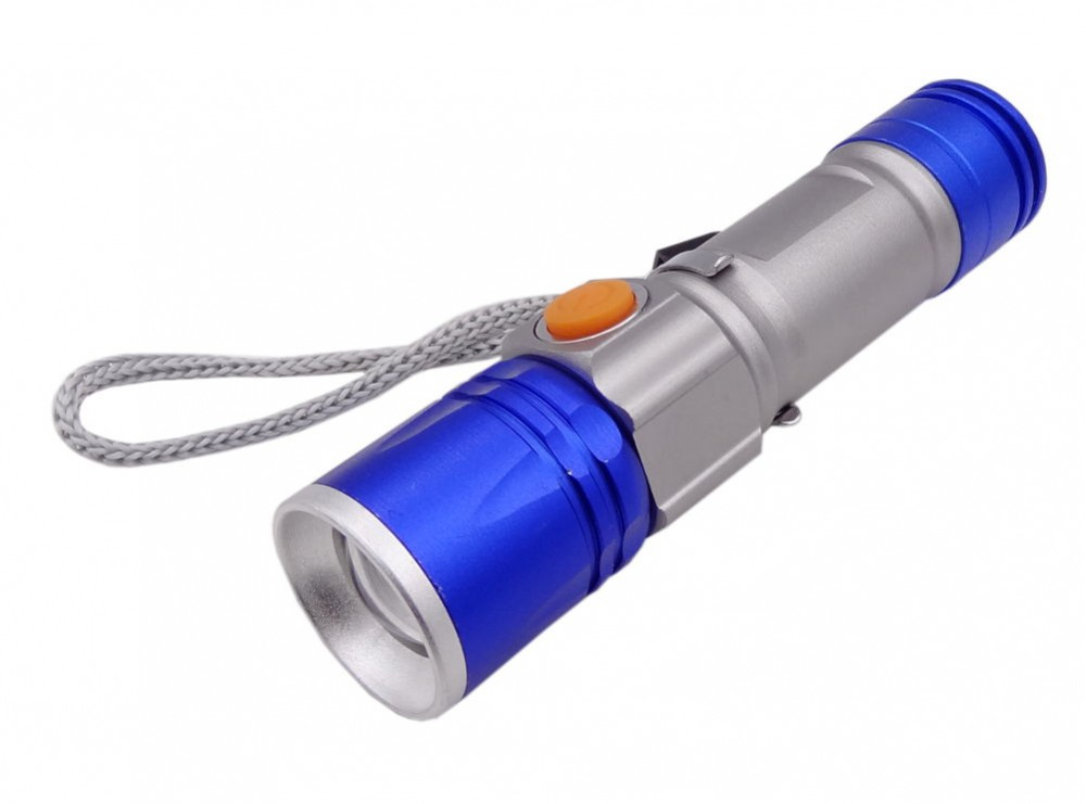 چراغ قوه پلیسی زوم دار T6 مدل USB