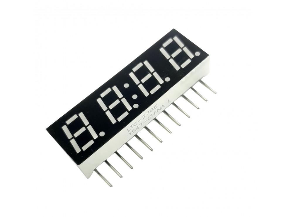 سون سگمنت 4 دیجیت ساعتی ایستاده 0.28 اینچ سبز کاتد مشترک کد LTC-2786KG