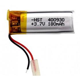 باتری لیتیوم پلیمر 3.7v ظرفیت 180mAh مارک HST کد 400930