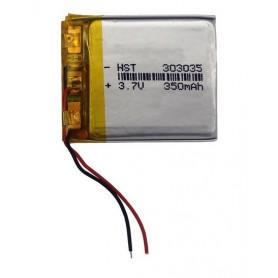باتری لیتیوم پلیمر 3.7v ظرفیت 350mAh مارک HST کد 303035