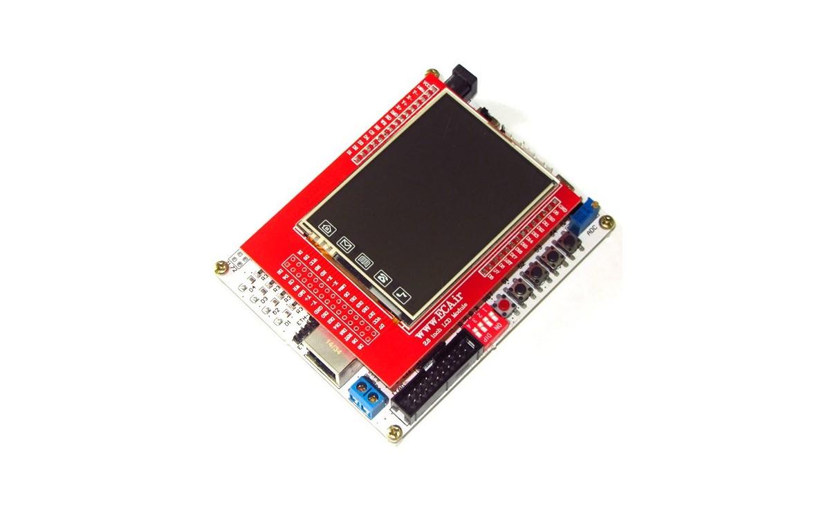 برد آموزشی حرفه ای میکروکنترلر AT91SAM7X512 به همراه LCD 2.8