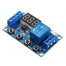 ماژول تایمر 30-6 ولت قابل تنظیم همراه با رله و نمایشگر مدل JZ-801