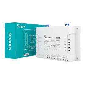 سوئیچ هوشمند 4 کاناله SONOFF 4CHPRO با قابلیت کنترل از طریق WiFi و ریموت 433MHz