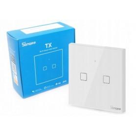 کلید دو پل هوشمند لمسی SONOFF T1 با قابلیت کنترل از طریق WiFi و ریموت 433MHz