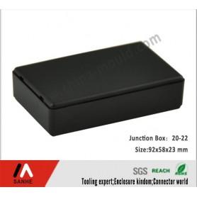 جعبه برد مشکی 92x58x23 mm مدل SANHE20-22