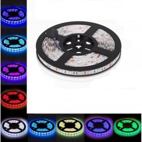 LED نواری RGB درشت 5050 30Pcs ضد آب رول 5متری