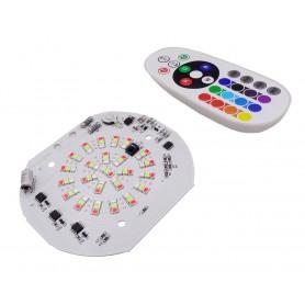 LED DOB RGB 50W 220V دارای مدار محافظتی Anti Surge به همراه ریموت کنترلر