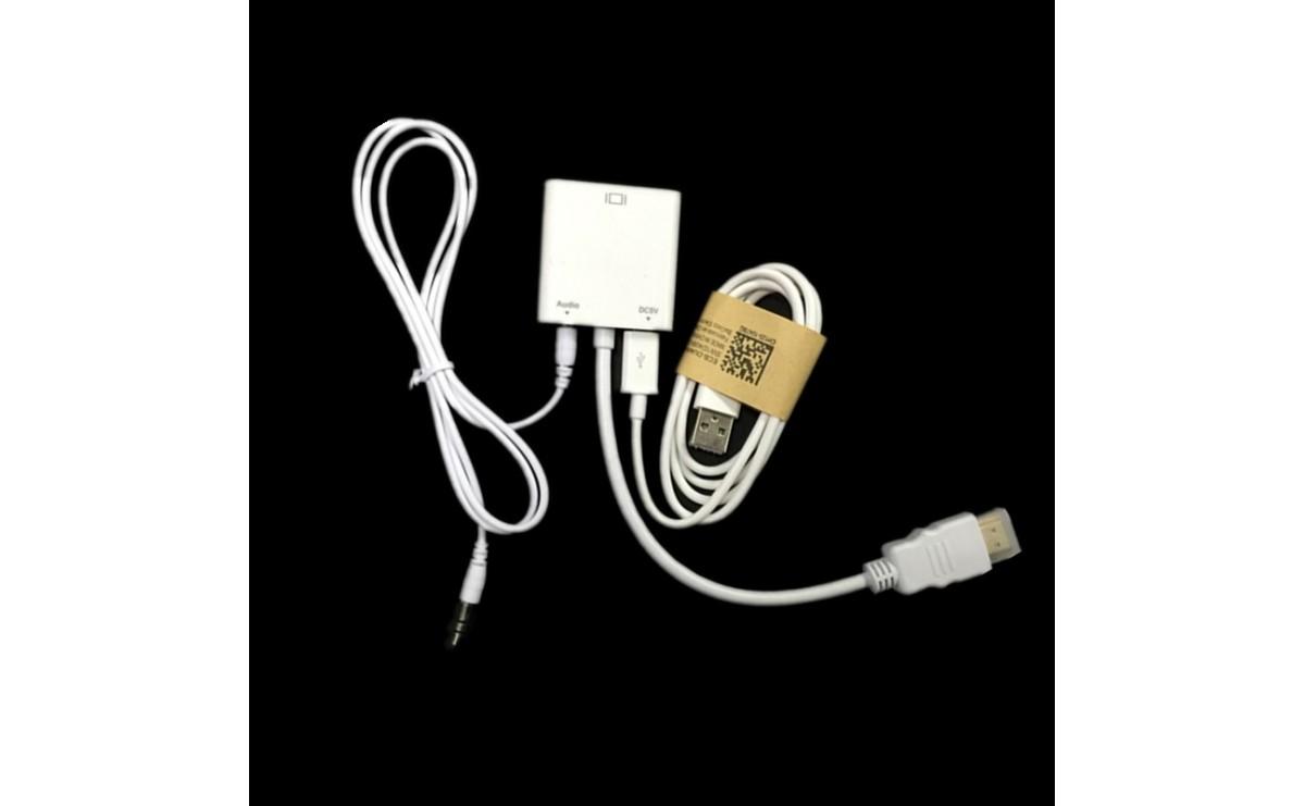 کابل مبدل HDMI به VGA به همراه خروجی صدا و آداپتور