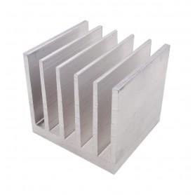 هیت سینک آلومینیومی ضخیم 6 پره 50x54x40mm