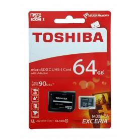 کارت حافظه MicroSDHC Class10 U3 مارک Toshiba ظرفیت 64GB