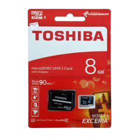 کارت حافظه MicroSDHC Class10 U3 مارک Toshiba ظرفیت 8GB