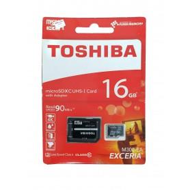 کارت حافظه MicroSDHC Class10 U3 مارک Toshiba ظرفیت 16GB