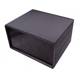 جعبه فلزی با پنل پلاستیکی سایز 110x180x100mm