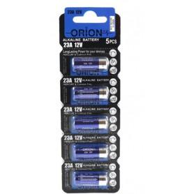 باتری ریموتی آلکالاین 12 ولت سایز 23A مارک ORION ورق 5تایی