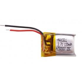 باتری لیتیوم پلیمر 3.7v ظرفیت 120mAh تک سل 25c مارک MAXCELL  کد 751517