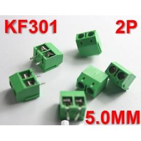 ترمینال پیچی مدل KF301-2Pin رنگ سبز بسته 5 تایی