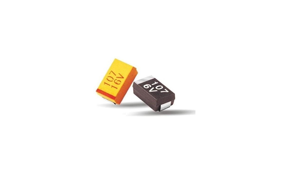 خازن تانتال SMD 220uF / 10V پکیج D