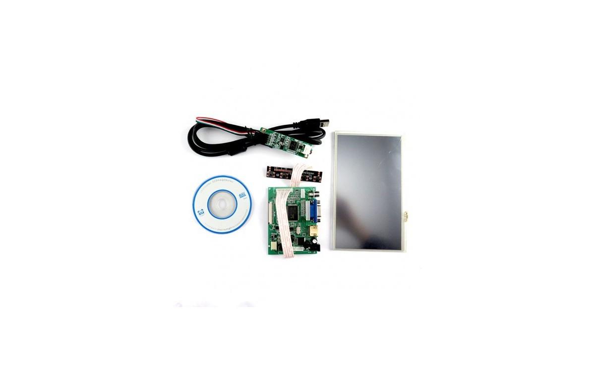 پک نمایشگر 7 اینچ HDMI + AV تاچ اسکرین مقاومتی مناسب برای برد Raspberry Pi