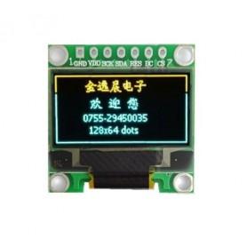 ماژول OLED 0.96 دو رنگ زرد-آبی دارای رابط I2C و SPI