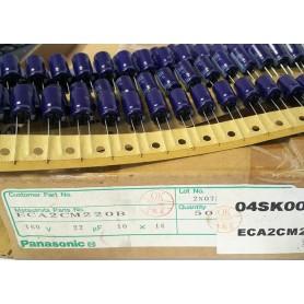 خازن الکترولیتی 22uF 160V ژاپنی Panasonic بسته500تایی