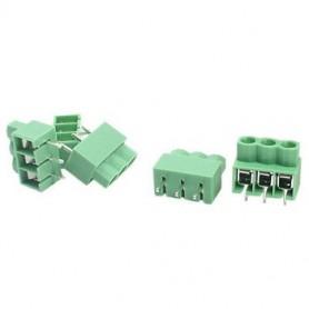 ترمینال پیچی مدل KF166-3pin رنگ سبز بسته 100 تایی