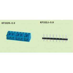 ترمینال پیچی مدل KF332-3pin رنگ آبی بسته 80 تایی