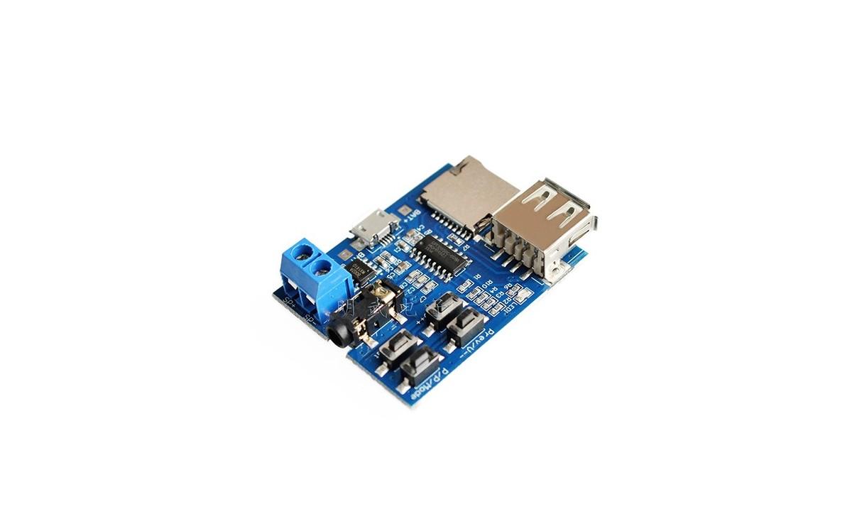 ماژول دیکودر فایل های MP3 با قابلیت خواندن دیتا از طریق MICRO SD و USB