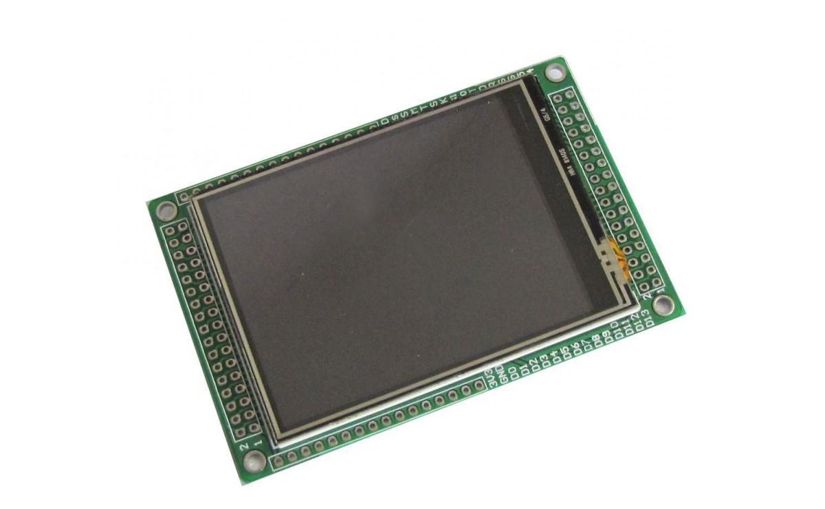 """ماژول نمایشگر تمام رنگی """"LCD TFT 2.8 کامل به همراه LCD و تاچ اسکرین"""