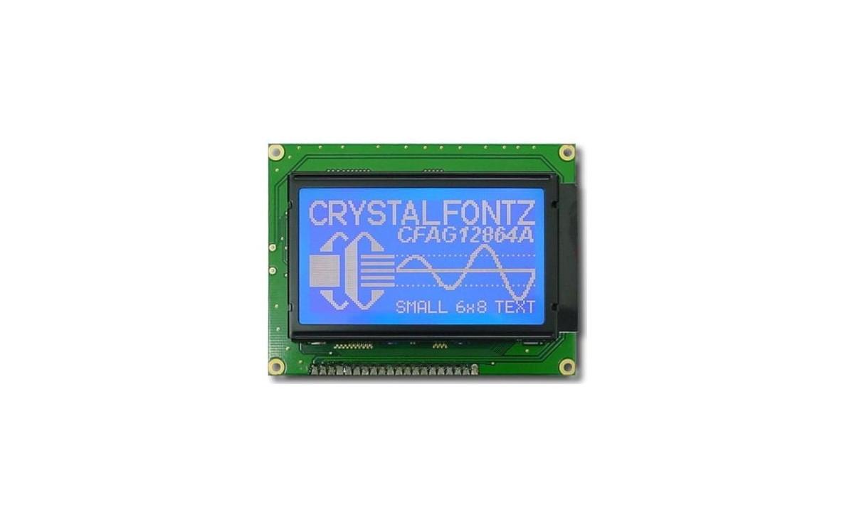نمایشگر GLCD 64x128 گرافیکی بک لایت آبی با درایور ST7920
