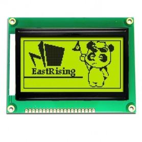 نمایشگر GLCD 64x128 گرافیکی بک لایت سبز با درایور KS108 فریم کوچک
