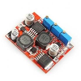 ماژول مبدل DC-DC کاهنده و افزاینده LM2596-LM2577 با امکان کنترل جریان خروجی