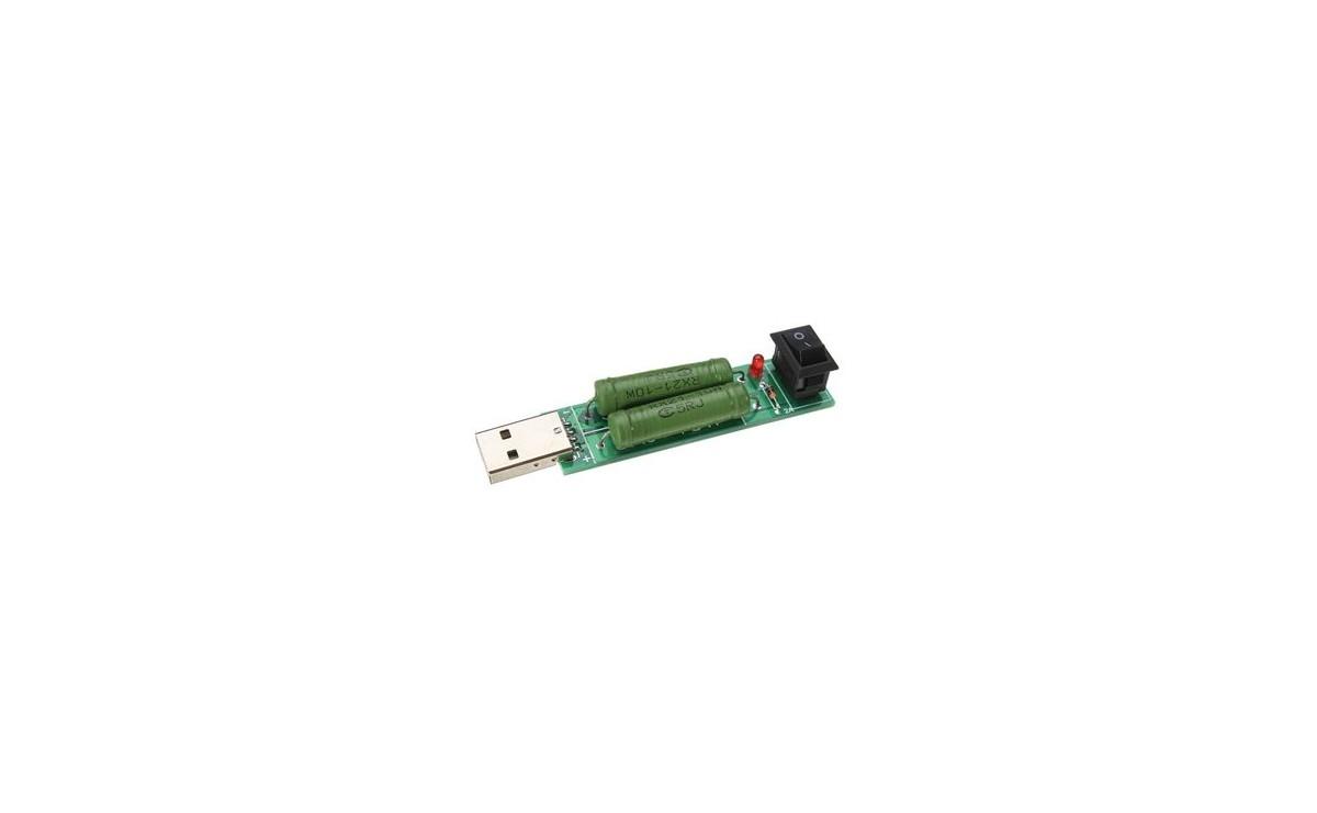 تستر شارژرهای 1A USB و 2A با بار مقاومتی