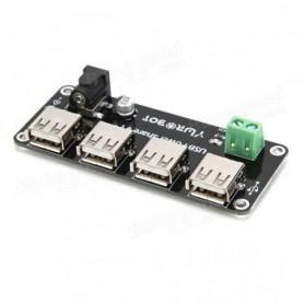 ماژول منبع تغذیه 5 ولت - دارای ورودی جک آداپتوری / ترمینال و 4 خروجی USB
