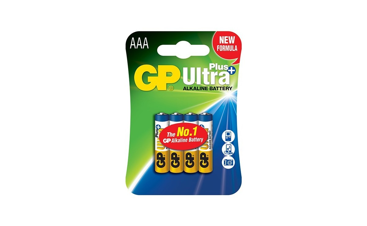 باتری نیم قلمی آلکالاین Ultra Plus چهار تایی مارک GP