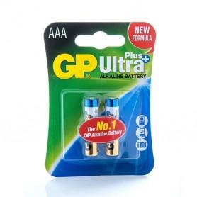 باتری نیم قلمی آلکالاین Ultra Plus دو تایی مارک GP
