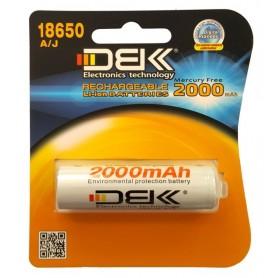 باتری لیتیوم یون 3.7v سایز 18650 مرغوب 2000mAh مارک DBK