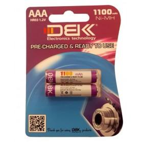 باتری نیم قلمی قابل شارژ 1100mAh دوتایی مارک DBK
