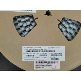 خازن SMD الکترولیت 220uF / 50V سایز 10x10.5 رول300 تایی