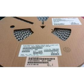 خازن SMD الکترولیت 10uF-50V سایز 5x6.1 رول 800 تایی