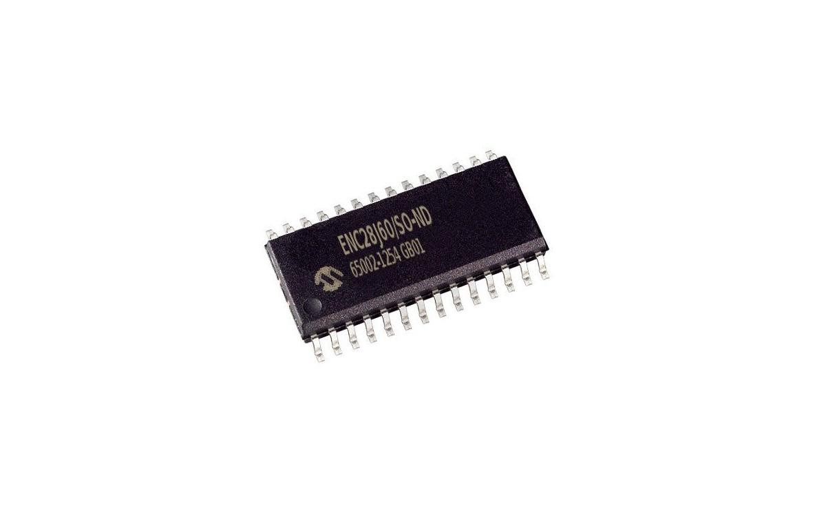 تراشه کنترلر شبکه ENC28J60 پکیج SMD