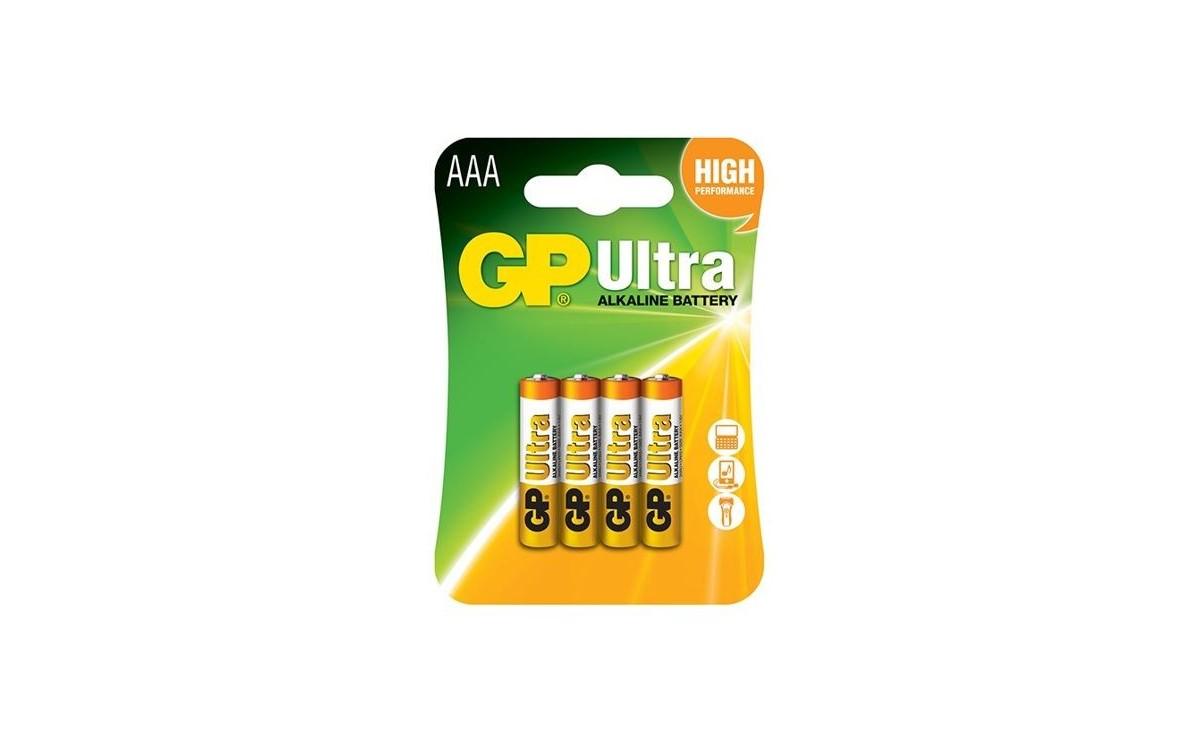 باتری نیم قلمی آلکالاین Ultra چهار تایی مارک GP